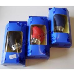 Hlavice řadící páky ergo plus kožená, různé barvy s kroužkem