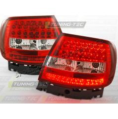 AUDI A4 (B5) 1994-00 ZADNÍ LED LAMPY RED WHITE (LDAU47)