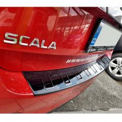 Ochranný panel zadního nárazníku - design VV - glossy black - Škoda Scala