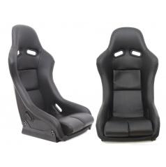 Sportovní pevná skořepina Monza GTR imitace černé kůže