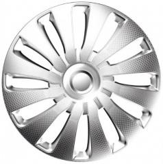 "Kryty kol SEPPANG carbon silver 14-16"" (sada 4 ks)"