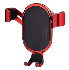 Držák telefonu MYWAY s uchycením do ventilace červený