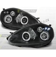 Fiat Grande Punto 2005-09 predné číre svetlá Angel Eyes black (LPFI04)