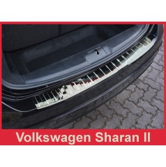 Nerez kryt- chrom ochrana prahu zadního nárazníku Volkswagen Sharan II 2010+