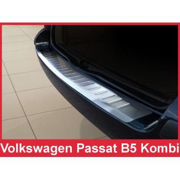 Nerez kryt- ochrana prahu zadního nárazníku Volkswagen Passat B5 kombi 2000-05
