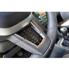 Škoda Rapid plaketka volantu RS honeycomb BLACK / CHROME KI-R