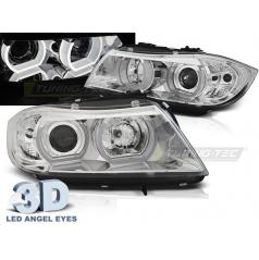 BMW E90/E91 03.2005-08.2008 přední čirá světla 3D U-Type chrome (LPBMI3)