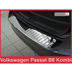 Nerez kryt- chrom ochrana prahu zadního nárazníku Volkswagen Passat B8 kombi 2014+