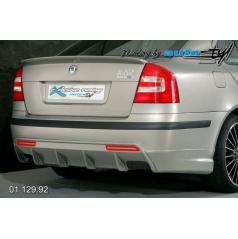 Škoda Octavia II Difuzor zadního nárazníku s bočními spoilery pro lak