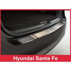 Nerez kryt- ochrana prahu zadního nárazníku Hyundai Santa Fe 2010-12
