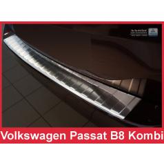 Nerez kryt- ochrana prahu zadního nárazníku Volkswagen Passat B8 kombi 2014-16