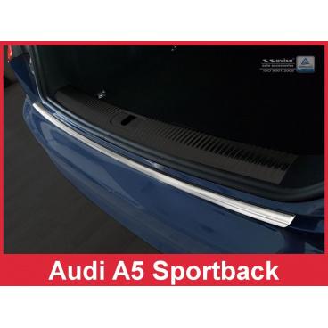 Nerez kryt- ochrana prahu zadního nárazníku Audi A5 Sportback 2016+