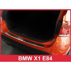Nerez kryt- ochrana prahu zadního nárazníku BMW X1 E84 2009-12