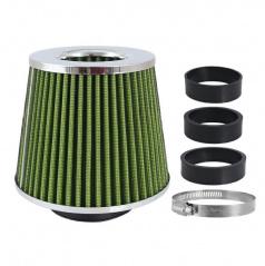 Sportovní vzduchový filtr kuželový zelený/chrom