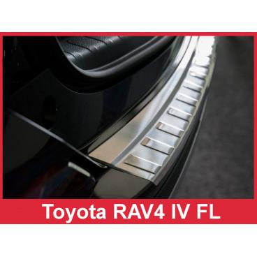 Nerez kryt- ochrana prahu zadního nárazníku Toyota Rav4 IV FL 2016-17