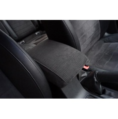 Škoda Octavia III - potah loketní opěrky z pravé Alcantary - perfo/black
