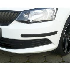 Ochranné lišty předního a zadního nárazníku Škoda Fabia III Lim. + Combi