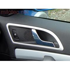 Dekory interiéru, sada 3 (rámečky klik 4 ks) ABS-stříbrný matný, Octavia II, Octavia II Facelift, Yeti