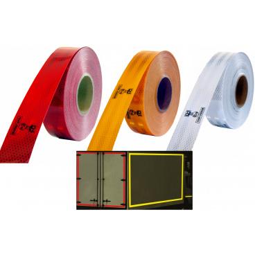 Samolepící páska reflexní 1m x 5cm žlutá, bílá, červená