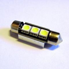 Žárovky 3 LED SMD  sulfit 42 mm  bílé 12V CAN-BUS - 1 ks