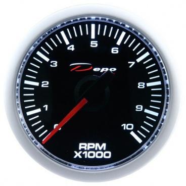 Přídavný budík Depo Racing Otáčkoměr 52 mm 0-10 000 RPM
