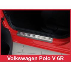Nerez ochranné lišty prahu dveří 4ks Volkswagen Polo 5 6R 2009-16