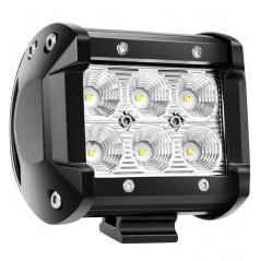 6 led pracovní světlo bílé 6 LED 95x77 mm 18W FLAT 9-36V 6000K