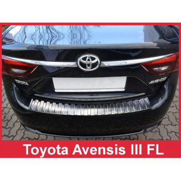 Nerez kryt- ochrana prahu zadního nárazníku Toyota Avensis Mk III FL 2015+