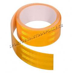 Samolepící páska reflexní 5m x 5cm žlutá, bílá, červená (role 5m)