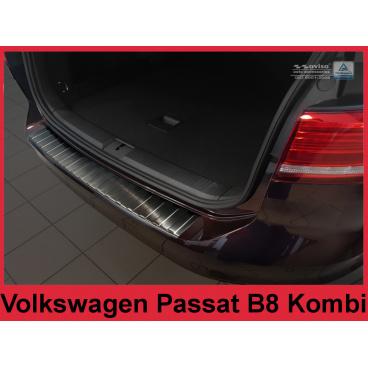 Nerez kryt- černá ochrana prahu zadního nárazníku Volkswagen Passat B8 kombi 2014+