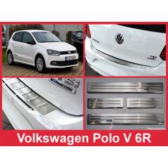 Nerez kryt- sestava-ochrana prahu zadního nárazníku+ochranné lišty prahu dveří VW Polo V 6R 2014-16