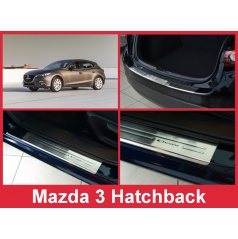 Nerez kryt- sestava-ochrana prahu zadního nárazníku+ochranné lišty prahu dveří Mazda 3 Htb. 2012-16