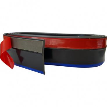 Univerzální spodní pružný  lip s podlepením černý s modrou linkou