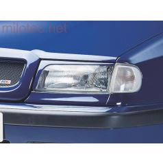 Kryty světlometů Milotec (mračítka) - ABS černý, Škoda Felicia Facelift