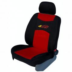 Autopotahy 4Car-Škoda Octavia I-dělená zadní sedačka+zadní loketní opěrka-červené