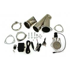 Elektrická výfuková klapka, kompletní set s potrubím 76 mm