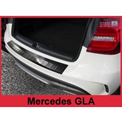 Nerez kryt-černá ochrana prahu zadního nárazníku Mercedes GLA X156 2013-16