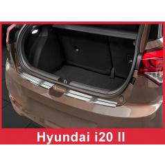 Nerez kryt- ochrana prahu zadního nárazníku Hyundai i20 II htb 2014+