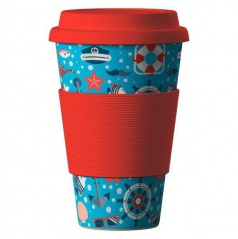 Termohrnek Bamboo Cup - Sea Red 400 ml