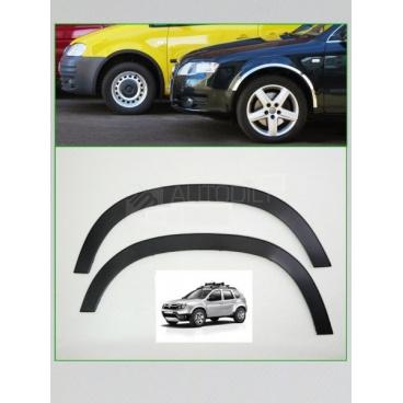 Dacia Duster 2010-17 nerezové lemy blatníku 4 ks (černé matné, chromové)