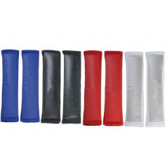 Návleky na pásy carbon styl červené, modré, černé, stříbrné 2 ks