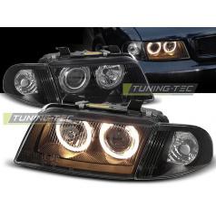 Audi A4 11.94-12.98 přední čirá světla Angel Eyes black (LPAU11)