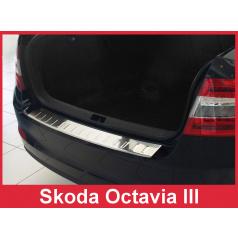 Nerez kryt- ochrana prahu zadního nárazníku Škoda Octavia III 2013-16