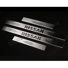 Nissan Qashqai - NEREZ chrom prahové lišty - OMSA LINE