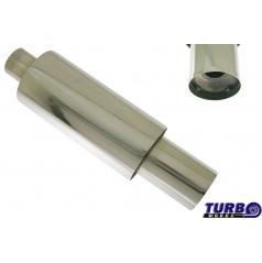 Sportovní výfuk TurboWorks dlouhá kulatá koncovka se silencerem