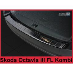 Nerez kryt- černá ochrana prahu zadního nárazníku Škoda Octavia III FL kombi 2016+