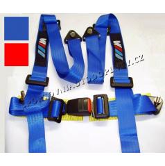 4 -bodové racing bezpečnostní pásy BMW řady M modré