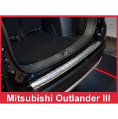 Nerez kryt- ochrana prahu zadního nárazníku Mitsubishi Outlander III FL 2012-15