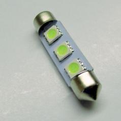 3 SMD led žárovka sulfit bílá 36 mm - 1 ks