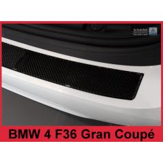Carbon kryt- ochrana prahu zadného nárazníka 3 D BMW 4 F36 Grand Coupe 2014-16